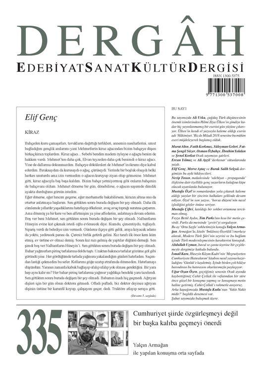 Dergâh dergisinin 335. sayısı çıktı