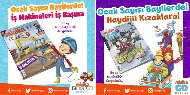 minikaGo ve minikaÇocuk dergilerinin 13. sayıları çıktı