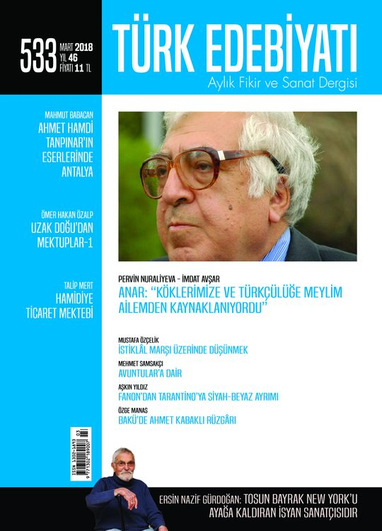 Türk Edebiyatı dergisinin 533. sayısı çıktı