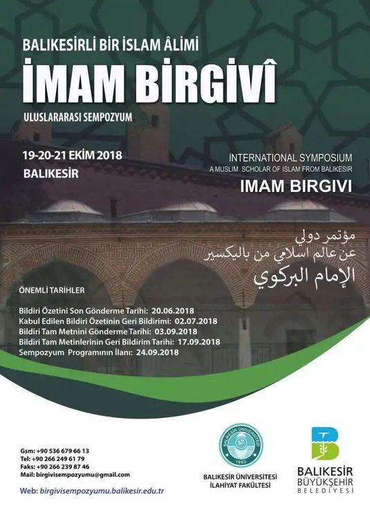 İmam Birgivî Üzerine Uluslararası Sempozyum