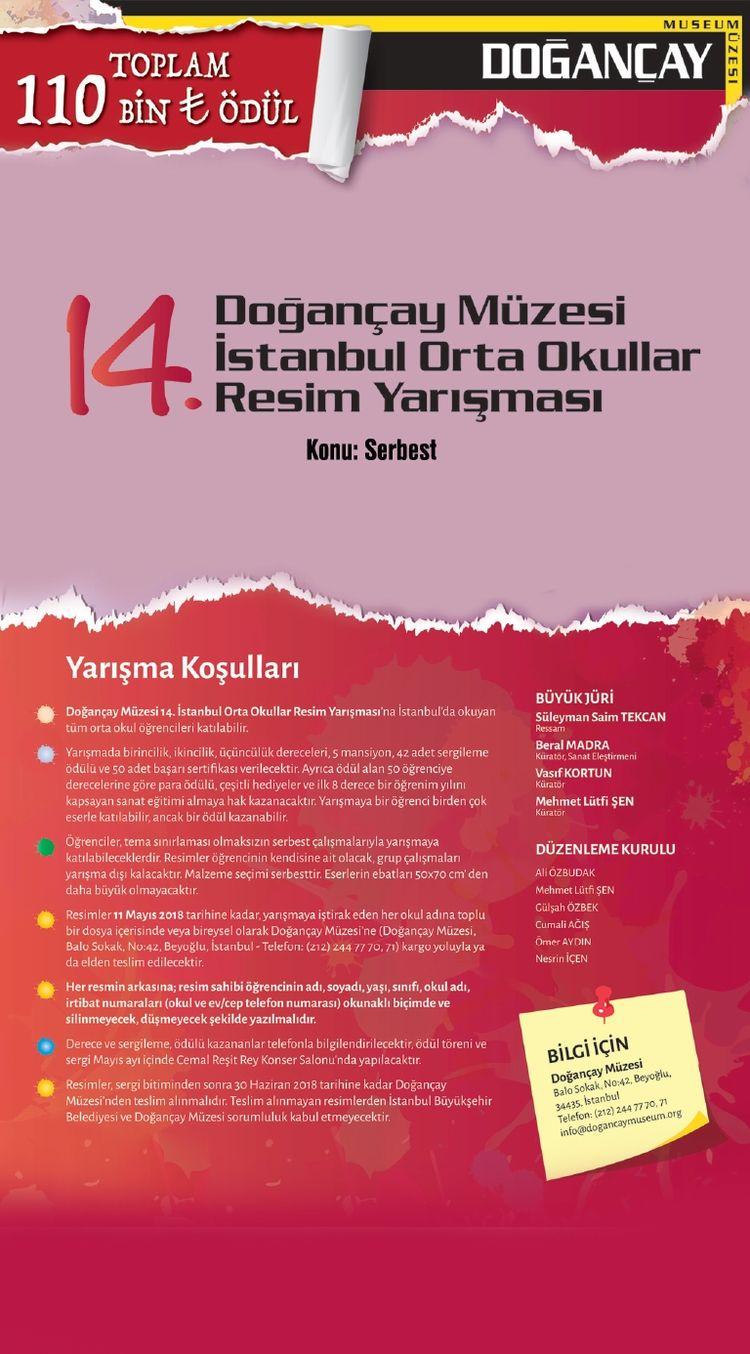 14. Doğançay Müzesi İstanbul Orta okullar Resim Yarışması