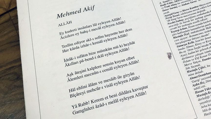Mehmet Akif'in yeni bir şiirinin bulunması kültür açısından önemli