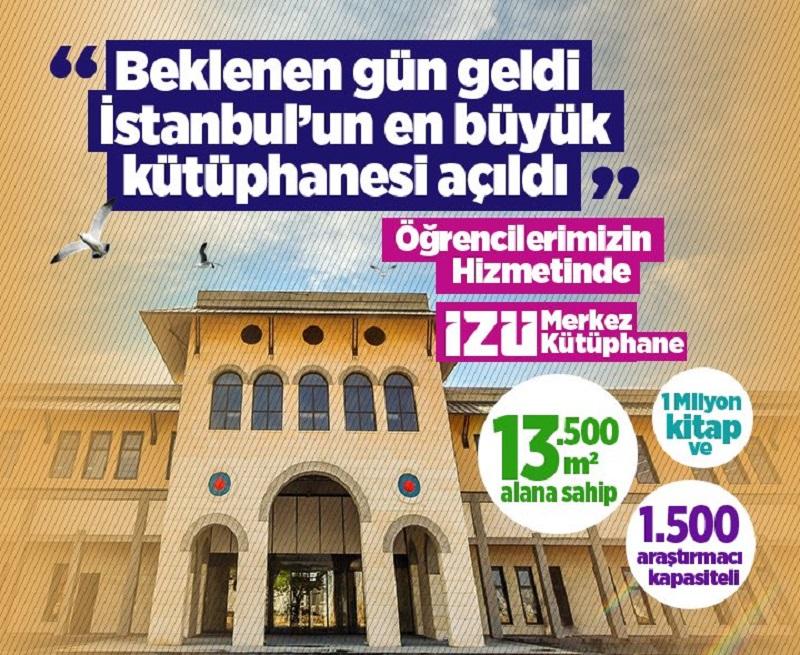 İstanbul'un En Büyük Kütüphanesi Hizmete Girdi