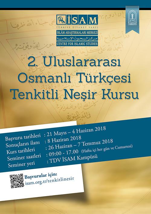 2. Osmanlı Türkçesi Tenkitli Neşir Kursu