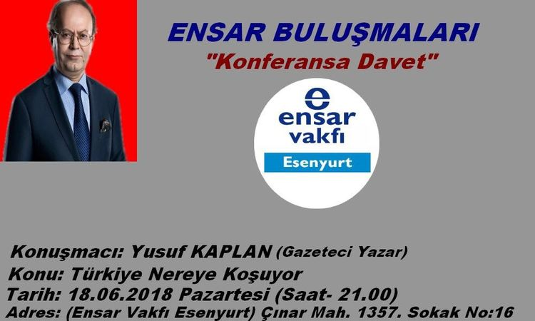 Yusuf Kaplan'dan konferans: Türkiye Nereye Koşuyor?