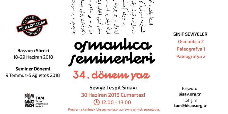 BİSAV'da Yaz Dönemi Osmanlıca Seminerleri