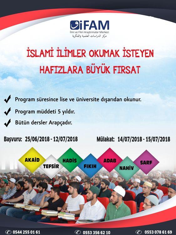 İFAM'da İslami İlimler Eğitimi Kayıtları Başladı