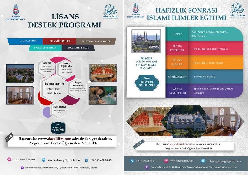 Darul İlim'in Yeni Eğitim Dönemi Başvuruları Başladı
