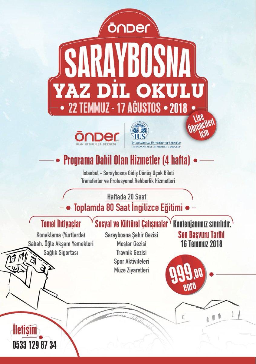 ÖNDER'den Saraybosna Yaz Dil Okulu