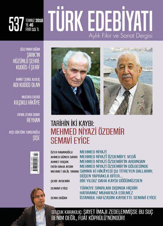 Türk Edebiyatı'ndan Mehmed Niyazi ve Semavi Eyice Dosyaları
