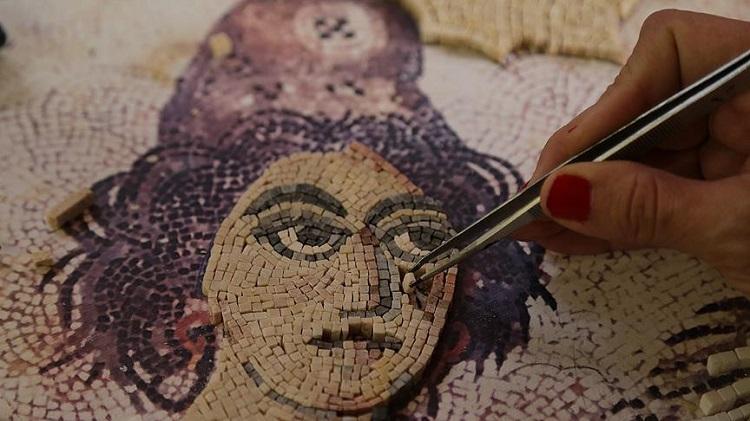 Gaziantep'te Yeni Mozaik Sanatçıları Yetişiyor