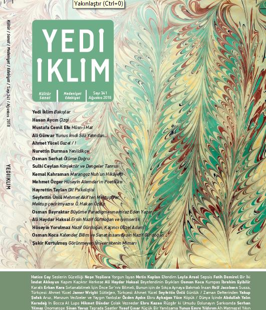 Yedi İklim Dergisinin Yeni Sayısı Çıktı