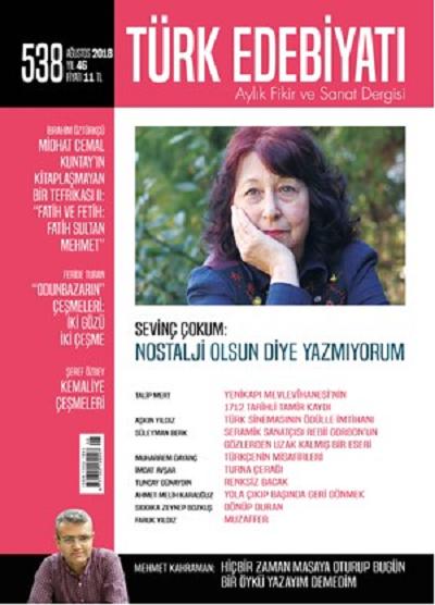 Türk Edebiyatı Dergisinin Ağustos Sayısı Raflarda