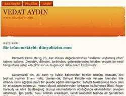 Bir irfan mektebi: dunyabizim.com