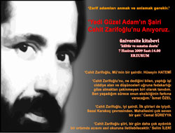 Erzurum'da Zarifoğlu anıldı.