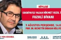 Fuzuli Divan Söyleşileri Başlıyor