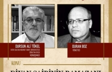 Divan şairinin Ramazan'ı, Kıraathane Söyleşileri'nde konuşulacak
