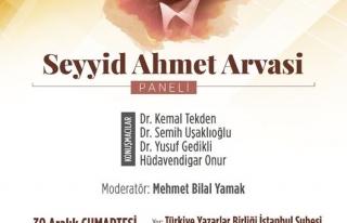 Seyyid Ahmed Arvasi anılacak