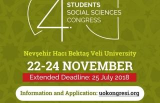 4. Uluslararası Öğrenciler Sosyal Bilimler Kongresi...