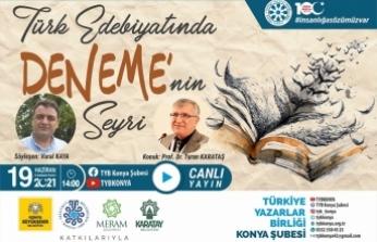 """TYB Konya'da """"Denemenin Seyri"""" konuşuldu"""