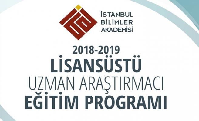 İstanbul Bilimler Akademisi Lisansüstü Uzman Araştırmacı eğitim programı