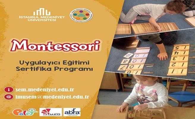 Montessori Uygulayıcı Eğitimi Sertifika Programı başlıyor