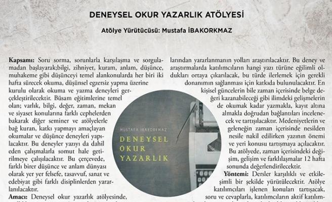 Mustafa İbakorkmaz ile Deneysel Okuryazarlık atölyesi