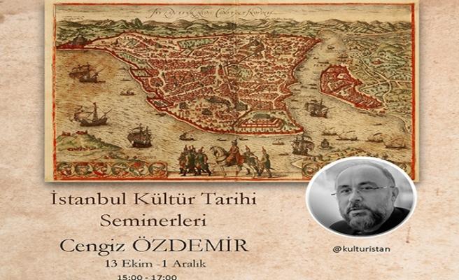 İstanbul Kültür Tarihi Atölyesi başlııyor