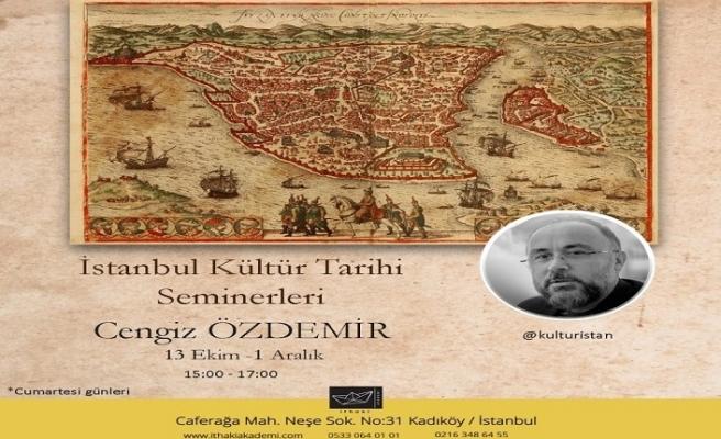 """""""İstanbul Kültür Tarihi Seminerleri"""" başlıyor"""