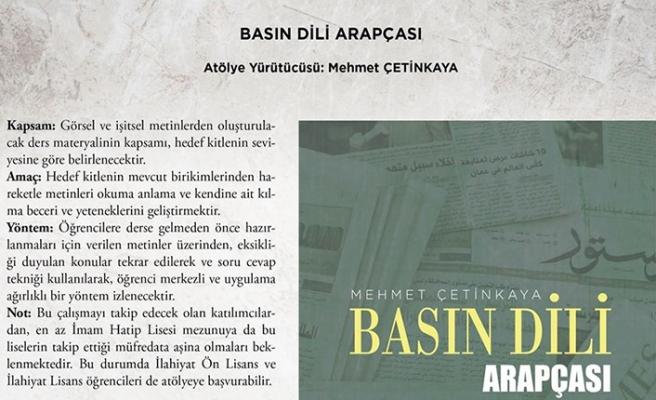 Mehmet Çetinkaya ileBasın Dili Arapçası Atölyesi devam ediyor