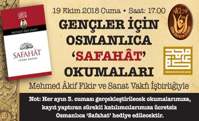 Safahat okumaları Türk Edebiyatı Vakfı'nda başlıyor