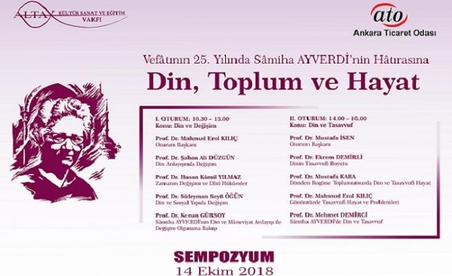 Sâmiha Ayverdi Ankara'da anılıyor