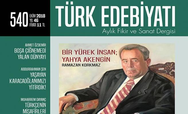 Türk Edebiyatı dergisinin 540. sayısı çıktı