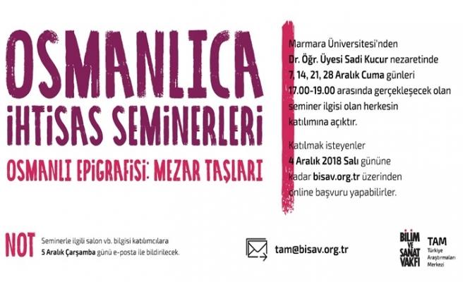 Osmanlı Epigrafisi: Mezar Taşları ihtisas seminerleri