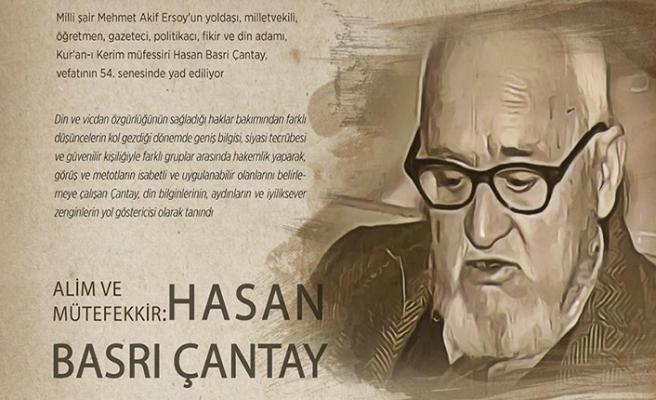 Hasan Basri Çantay vefatının 54. senesinde yad ediliyor