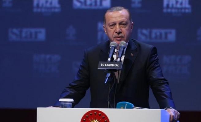 Cumhurbaşkanı Erdoğan: Necip Fazıl Ödülleri fikir dünyamızı zenginleştirdi
