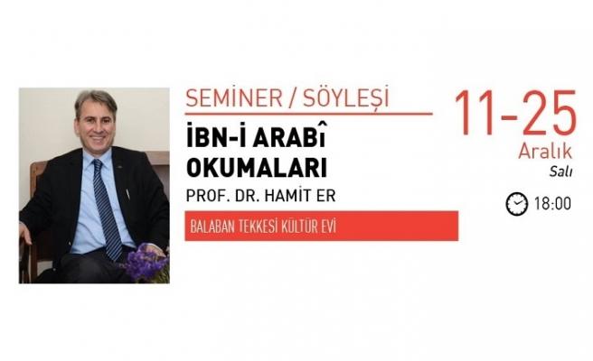 Prof. Dr. Hamit Er ile İbn-i Arabî Okumaları