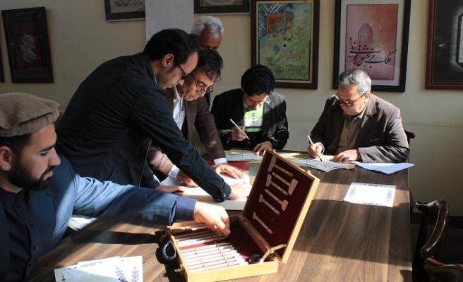 Türk İşbirliği ve Koordinasyon Ajansı'ndan Herat Hattatlar Derneğine destek