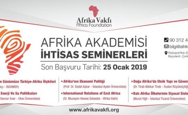 Afrika Akademisi başlıyor