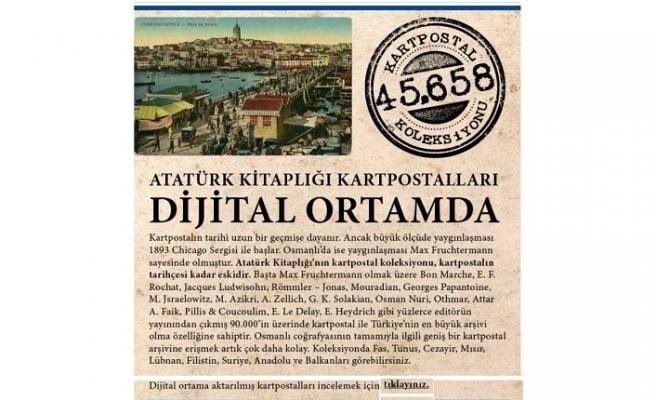 Atatürk Kitaplığı kartpostalları dijital ortamda