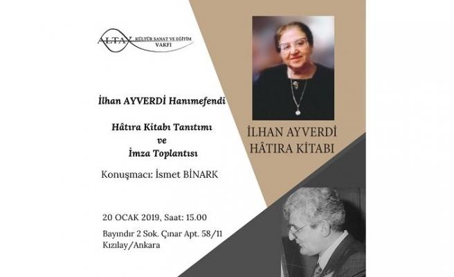 İlhan Ayverdi Hanımefendi Ankara'da anılıyor