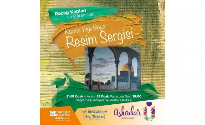 Recep Kaplan ve öğrencileri karma yağlı boya resim sergisi