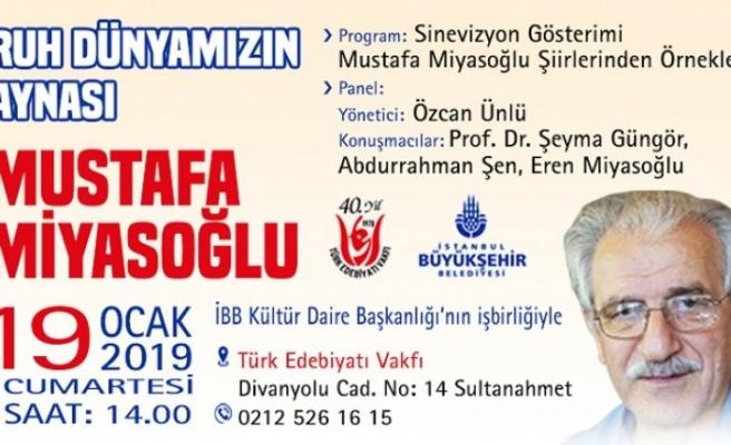 Türk Edebiyatı Vakfında Mustafa Miyasoğlu'nu anma toplantısı