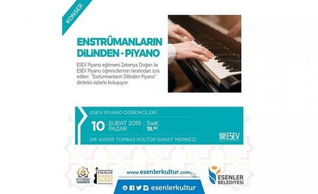"""Konser: """"Enstrümanların Dilinden - Piyano"""""""