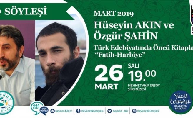 """Söyleşi: """"Türk Edebiyatında Öncü Kitaplar: Fatih Harbiye"""""""