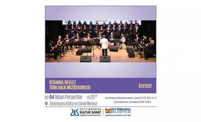 Konser:  İstanbul Devlet Türk Halk Müziği Korosu