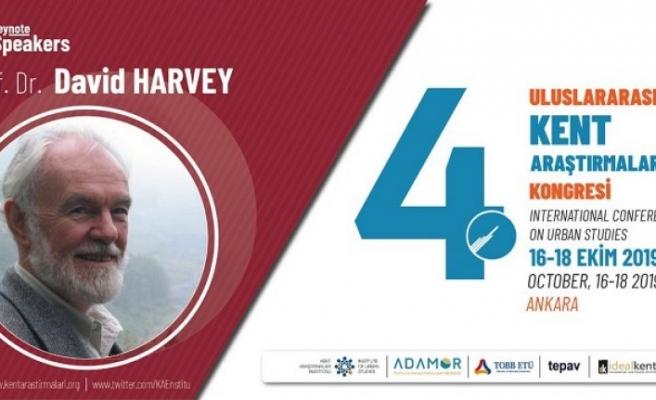 Prof. Dr. David Harvey IV. Uluslararası Kent Araştırmaları Kongresi'nde