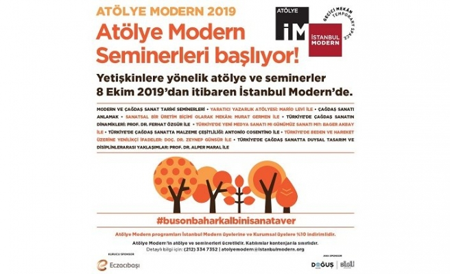 Atölye Modern Sonbahar 2019 programı açıklandı