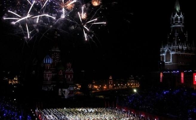Kızıl Meydan'da Türk mızıkasının gösterisi