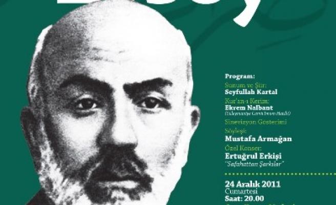 Sırat-ı Müstakim'deki şair anılacak